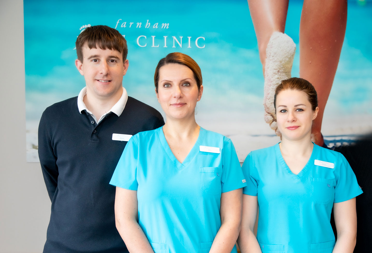 Our Farnham podiatry team in Surrey